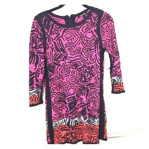 Colorful patterned sweater-dress Nic +Zoe.